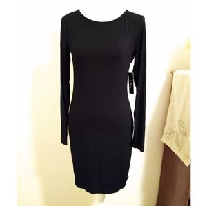 NWT Lulu's Size M black long sleeve dress